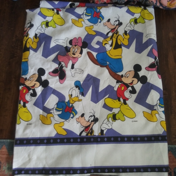 Vintage Disney Mickey Mouse friends blanket ABC
